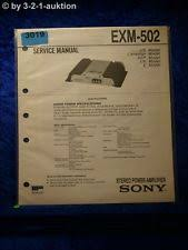 sony power amplifier sony service manual exm 502 stereo power amplifier 3019