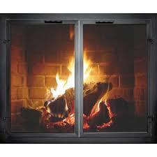 normandy custom masonry fireplace door