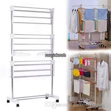 free standing clothes rack. 2018 Steel Folding Laundry Clothes Drying Rack Organizer Dryer Hanger Free Standing From Jiaozongxiao668, $34.78 | Dhgate.Com D