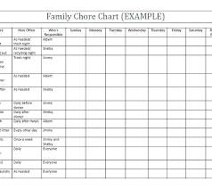 Family Chore Chart List Printable Family Chore Chart Kozen Jasonkellyphoto Co