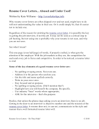 Resume Cover Letters... Abused and Under Used! Written by Kate Williams ...
