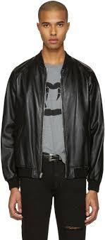 saint lau black leather oversized teddy er jacket men yves saint lau cigarettes yves
