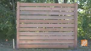 white horizontal wood fence. Building A Horizontal Fence: Overview White Wood Fence D