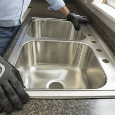 placing new sink in countertop