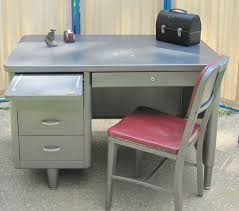 Tanker Desk, Office desk, Mid Century, Metal Desk