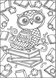 Sparks Owl Coloring Bookdover Publications Samples Owls