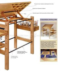 Easy Table Plans Knockdown Drafting Table Plans O Woodarchivist