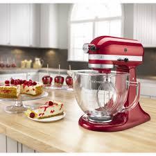Designer Kitchen Aid Mixers Kitchenaid Artisan Design Series 5 Qt Stand Mixer With Glass Bowl