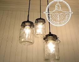mason jar track lighting. mason jar chandelier light trio of vintage quart jars flush mount ceiling lighting fixture fan track h