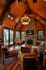 Log Cabin Living Room Design Superb Cozy And Rustic Cabin Style Living Rooms Ideas No 22