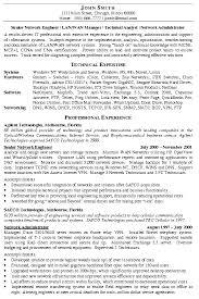 Engineer Resume Example Network Engineer Resume