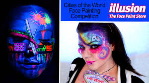cities of the world face painting competition illusion you