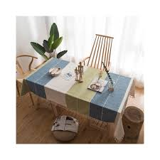 decorative table cloth cotton linen tablecloth rectangular tablecloths dining table cover obrus tafelkleed mantel mesa nappe color plaid specification