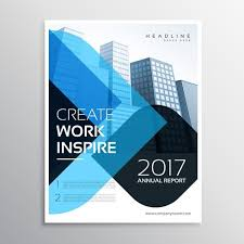 Annual Report Template Design Best Modern Blue Business Presentation Brochure Template For Annual R