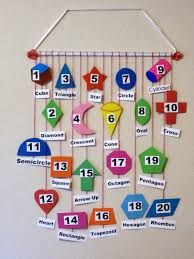 shapes and numbers wall hanging mobile
