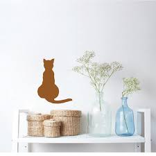 cat wall and window decal sticker zoom