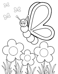 Free Coloring Pages Of Butterflies And Flowersll