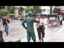 crazy living statue costume