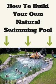 how to build your own natural swimming pool diy stratosphere diy