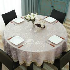 pictures show round tablecloths