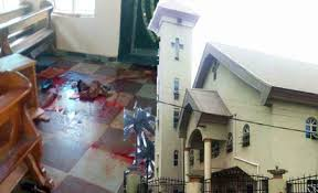 Image result for Anger, shock as gunmen kill 11 in Anambra church photos