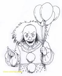 clown coloring pages with scary page home and of for