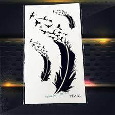 горячая продажа временная татуировка наклейка черный ловец снов татуировка