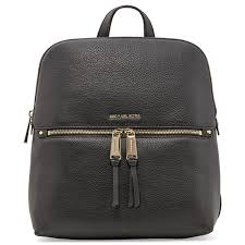 michael kors rhea zip medium slim leather backpack 30h6gezb2l