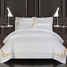 whole 60s egypt cotton oriental embroidery white color hotel bedding sets king queen size bed set duvet cover set bedsheet whole king size duvet