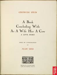 title page for book gertrude stein and juan gris collaboration title page