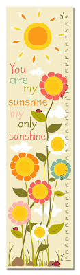 Image Of You Are My Sunshine Growth Chart Wish List You