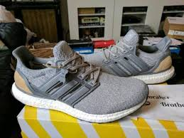 official super adidas ultra boost m esm ltd 3 0 suede leather cage linen grey