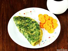 spinach omelette recipe swasthi s recipes