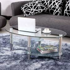 contemporary round glass coffee table