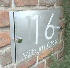 modern house signs plaque door