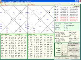 Kp Chart Or Lagna Chart Professional Edition 4 0 Astrology Software Horosoft