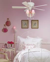 image of shabby chic white chandelier ceiling fan