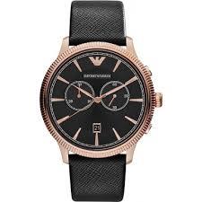 ar1792 emporio armani mens classic black and rose gold watch emporio armani ar1792 mens classic black and rose gold watch