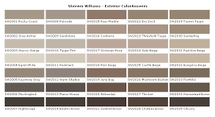 Sherwin Williams Color Chart For Exterior Paint Sherwin Williams Paint Color Chart Sherwin Williams Paint