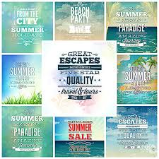 typography templates summer typography t shirt templates set free download
