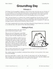 groundhog day teacher resources grades k teachervision worksheets history of groundhog day