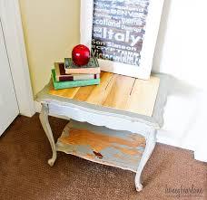 Beautiful Wood Plank Side Table Good Looking