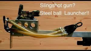 diy homemade slingshot steel ball launcher