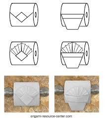 Toilet Paper Origami Flower Instructions Toilet Paper Origami Pleated Tuck