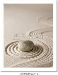 free art print of mini zen garden
