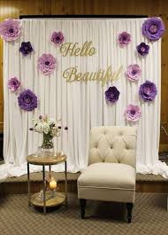 bridal shower decor wall backing to dressing rooms backdrop idea