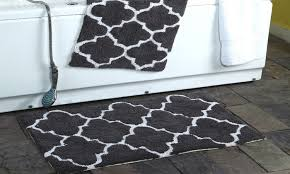 clearance moroccan trellis cotton bath rug set 2 pack