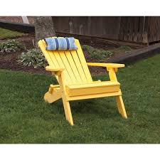 polywood folding adirondack chair yellow reclined
