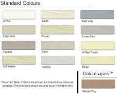 Palliside Colour Chart Imported Vinyl Cladding Forever Boards