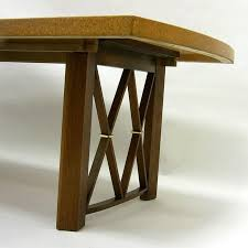 american stunning paul frankl cork top dining table by johnson furniture company for